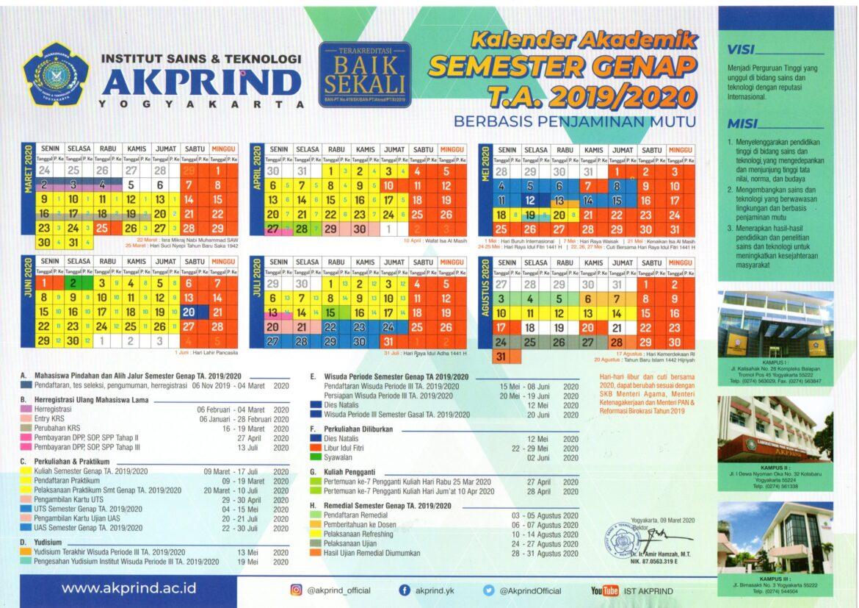 Kalender Akademik TA 2019/2020