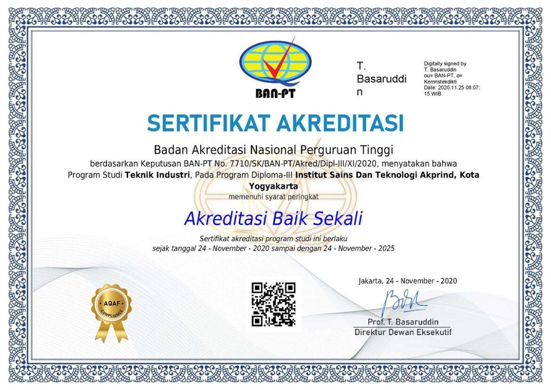 """Program Studi D3 Teknik Industri Raih Akreditasi 'Baik Sekali"""""""