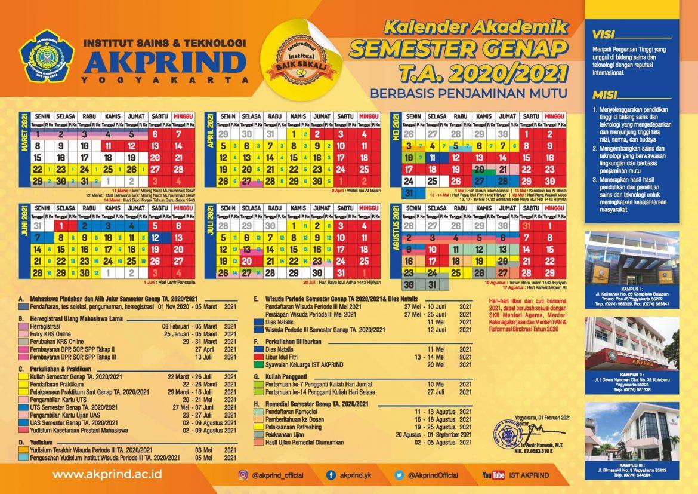 Kalender Akademik Semester Genap 2020-2021