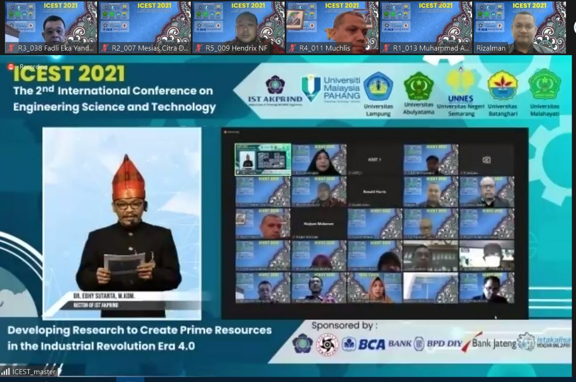 The 2nd International Conference on Engineering Science and Technology 2021